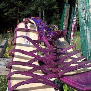 """Ann Marino Strappy""""PURPLE REIGNS"""" Sandals SZ 9"""